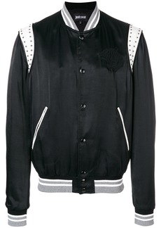Just Cavalli embroidered chest panel bomber - Black