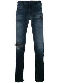 Just Cavalli faded distressed detail jeans