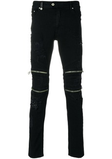 Just Cavalli fitted biker trousers - Black