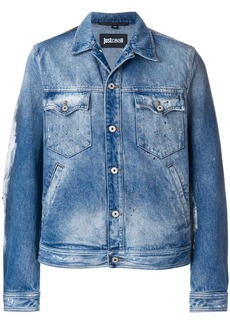 Just Cavalli fitted denim jacket - Blue
