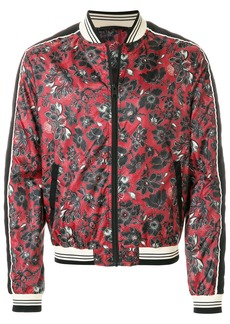 Just Cavalli floral printed bomber jacket - Red