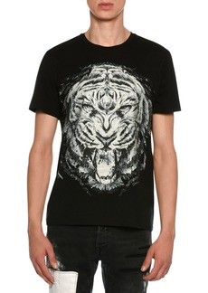 Just Cavalli Lion Face Jersey T-Shirt