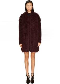 Just Cavalli Long Sleeve Fluffy Alpaca Wool Jacket