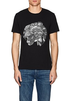 Just Cavalli Men's Abstract-Leopard-Graphic Cotton T-Shirt
