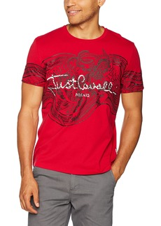 Just Cavalli Men's Classic Logo Tee Lipstick red XL
