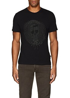 Just Cavalli Men's Embroidered Cotton Jersey T-Shirt