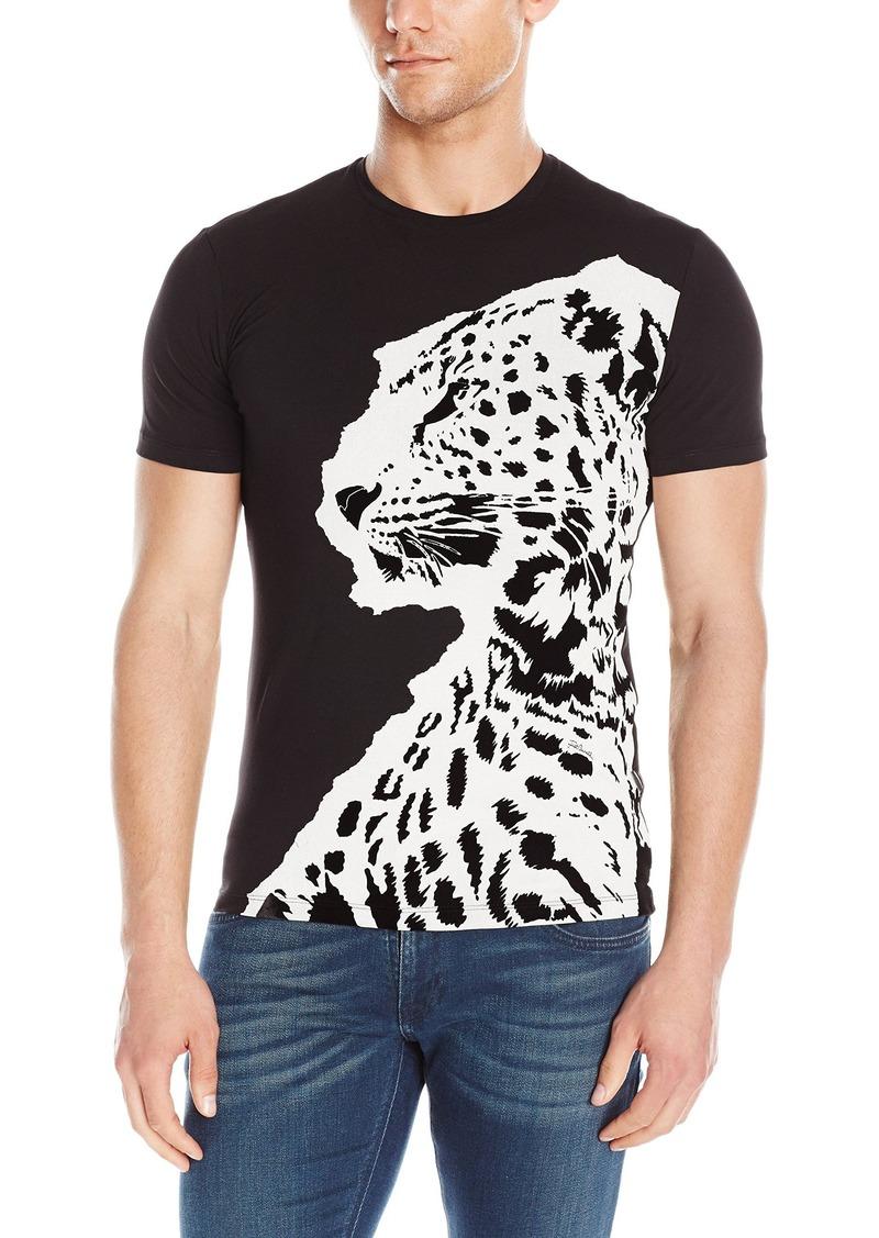 9b9e6cfb357b9 Just Cavalli Just Cavalli Men's Large Leopard Short Sleeve T-Shirt ...