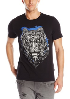 Just Cavalli Men's Lions Head Slim Fit Tee Shirt