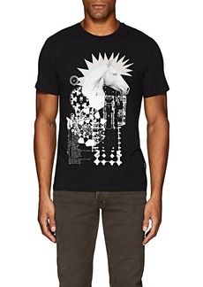 "Just Cavalli Men's ""Punk Horse"" Cotton T-Shirt"