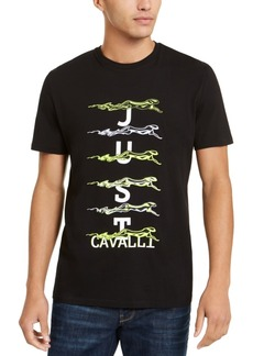 Just Cavalli Men's Running Cheetah Graphic T-Shirt