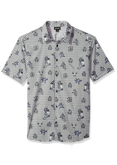 Just Cavalli Men's Short Sleeve Button Down