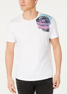 Just Cavalli Men's Shoulder Skull Graphic T-Shirt