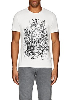 Just Cavalli Men's Skull-Print Cotton T-Shirt