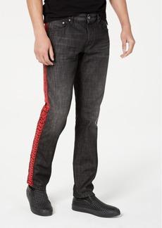 Just Cavalli Men's Slim-Fit Logo Tape Jeans
