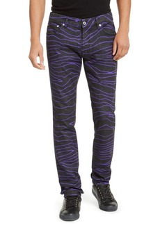 Just Cavalli Men's Straight Leg Zebra Jeans