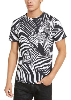 Just Cavalli Men's Zebra Print T-Shirt