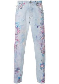Just Cavalli paint effect jeans