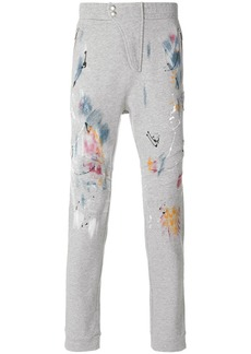 Just Cavalli paint-print casual trousers - Grey