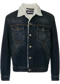 Just Cavalli shearling graphic jacket