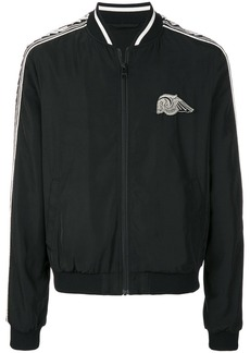 Just Cavalli skull patch bomber jacket - Black