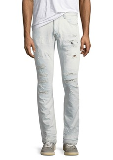 Just Cavalli Slim Distressed-Denim Jeans