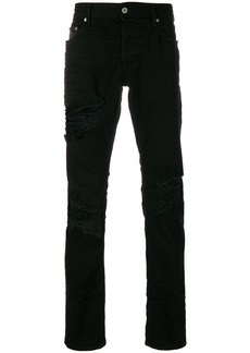 Just Cavalli slim fit distressed jeans - Black