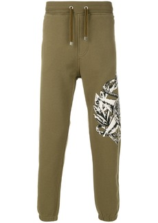 Just Cavalli star and animal print sweatpants - Green