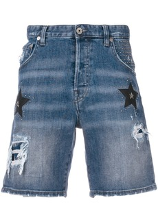 Just Cavalli star patch denim shorts - Blue
