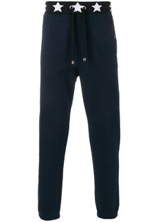 Just Cavalli star print detail sweatpants - Blue
