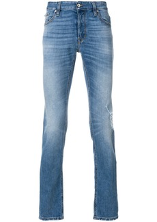 Just Cavalli stonewashed straight leg jeans - Blue