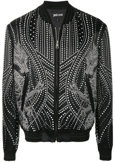 Just Cavalli studded bomber jacket - Black