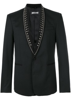 Just Cavalli studded collar blazer - Black