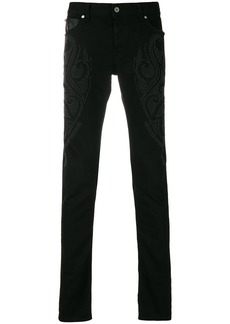 Just Cavalli studded slim jeans - Black