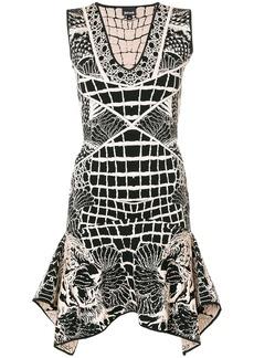 Just Cavalli tiger embroidered dress - Black