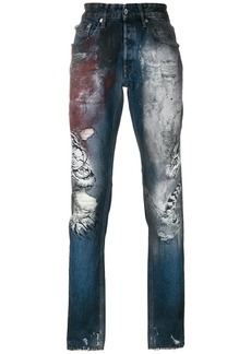 Just Cavalli tiger print jeans - Blue