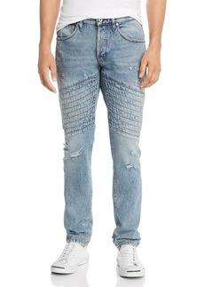 Just Cavalli Topstitched Slim Fit Jeans in Denim