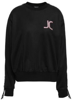 Just Cavalli Woman Appliquéd Jersey Sweatshirt Black