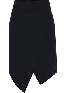 Just Cavalli Woman Asymmetric Crepe Mini Wrap Skirt Black