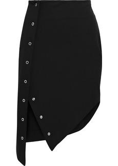 Just Cavalli Woman Asymmetric Snap-detailed Stretch-cady Mini Skirt Black
