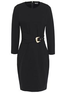 Just Cavalli Woman Belted Jersey Mini Dress Black