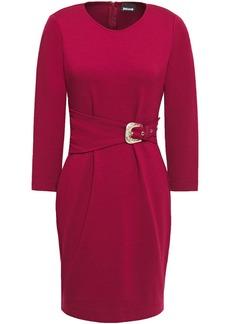 Just Cavalli Woman Belted Jersey Mini Dress Crimson