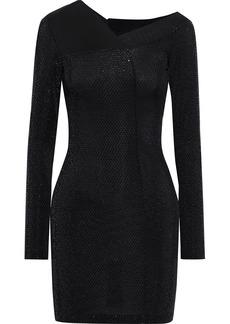 Just Cavalli Woman Burnout-effect Sequined Stretch-knit Mini Dress Black