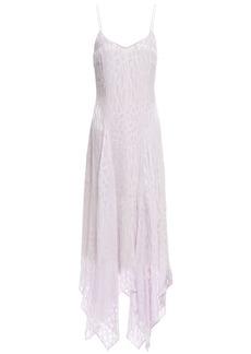 Just Cavalli Woman Burnout Satin Midi Dress Lilac
