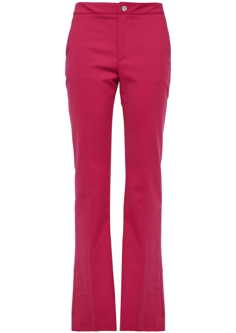 Just Cavalli Woman Cotton-blend Cady Bootcut Pants Magenta