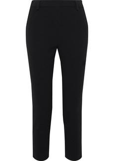 Just Cavalli Woman Cropped Crepe Slim-leg Pants Black
