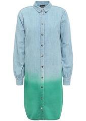 Just Cavalli Woman Dégradé Denim Mini Shirt Dress Light Denim