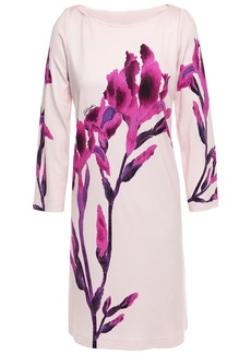 Just Cavalli Woman Floral-print Stretch-jersey Mini Dress Pastel Pink