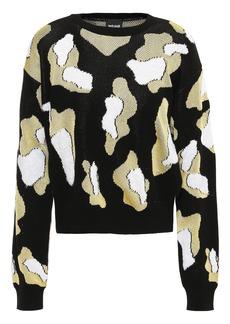Just Cavalli Woman Jacquard-knit Sweater Black