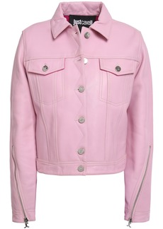 Just Cavalli Woman Leather Jacket Baby Pink