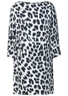 Just Cavalli Woman Leopard-print Satin Mini Dress Animal Print